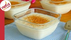 How to make Rice Pudding Recipe (with video)? Snack Recipes, Cooking Recipes, Snacks, Turkish Sweets, Smoothie, Recipe Mix, Pudding Recipe, Turkish Recipes, Soup And Salad