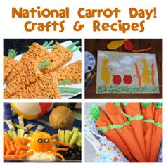 February is National Carrot Day. What a great excuse to get kids to eat some healthy carrots! St Patrick Day Activities, Fun Activities For Kids, Activity Ideas, Winter Activities, Classroom Crafts, Preschool Crafts, Kid Crafts, Stocking Stuffers For Boys, Recycled Crafts Kids