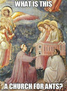 Zoolander joke with a Giotto painting!  LOVE! haha