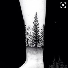 I want the center tree on my rib cage.