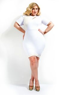 plus size club clothes   wearing a white dress is not a nightmare ...