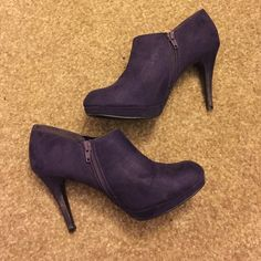 Purple heels From the brand impo. Size 8. Worn twice. The bottoms are clean, but there is a little mud residue on the heels. They are in great shape other than that! No trades. Shoes Heels
