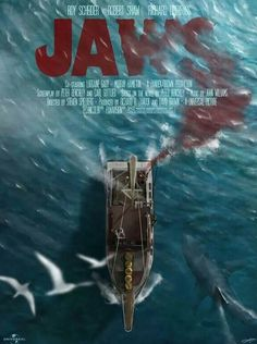Jaws. Not an official poster but much better than the original, I think.