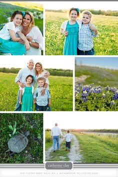 Wildflower family pictures, children photography, spring what to wear ideas, bluebonnet pictures // Dallas photographer Catherine Clay