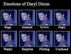 Emotions of Daryl Dixon