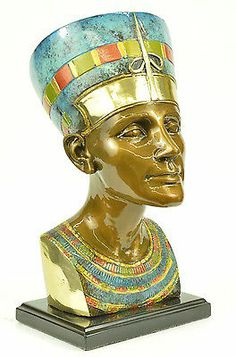 Egyptian Queen Pharaoh Nefertiti Bronze Bust Sculpture Statue Ancient Egypt Art | eBay