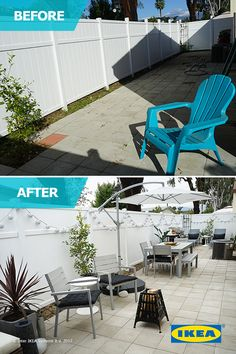 The IKEA Home Tour Squad transforms this backyard space into an outdoor oasis with furniture to eat or lounge on those beautiful summer nights.