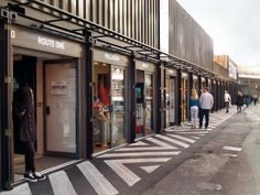 Very creative re-use of shipping containers!  Wow. Temporary Container Mall Boxpark Shoreditch London Waugh Thistleton