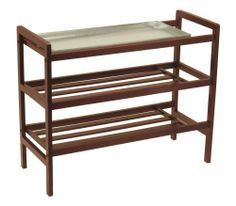 Winsome Wood Shoe Rack, Antique Walnut by Winsome Wood. $65.99. Leave your wet umbrella and store your shoes.. Great for mud room or entry way.. Shoe Rack. With Removable Sink tray, this unique product is nice to have it especially in wet weather.Warm Walnut finish. Save 37%!