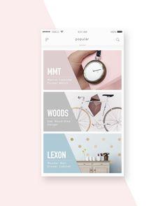 pink&blue – User interface by Bikki #MobileWebDesign