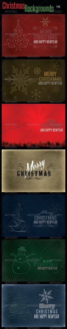 Christmas Backgrounds PSD Templates — Photoshop PSD #xmas bgs #gfx Christmas • Available here → https://graphicriver.net/item/christmas-backgrounds-psd-templates/6307339?ref=pxcr