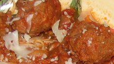 Best Ever Italian Meatballs Recipe - Genius Kitchen Meatball Marinara, Meatball Sauce, Marinara Sauce, Meatball Recipes, Beef Recipes, Italian Meatballs, Food And Drink, Appetizers