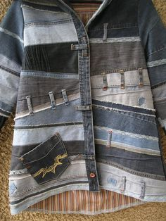 Latest Cost-Free Hooded Jacket, Upcycled Clothing by EcoClo, Denim Collection, size S Strategies I love Jeans ! And a lot more I like to sew my own, personal Jeans. Next Jeans Sew Along I am plan Patchwork Jeans, Denim Fabric, Jeans Recycling, Cotton Shirts For Men, Men Shirts, Mode Jeans, Denim Ideas, Denim Crafts, Unique Outfits