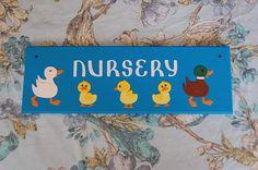 Items similar to Ducks Duckling nursery door plaque door sign room sign. on Etsy Door Plaques, Room Signs, Fairy Land, Ducks, Nursery, Trends, Craft, Unique Jewelry, Handmade Gifts