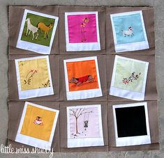 Amazing Polaroid Quilt Block via Little Miss Shabby. Would make a perfect quilt all on its own.