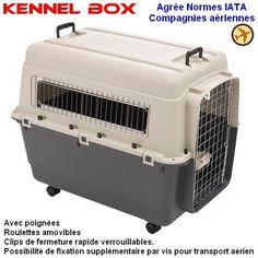 Cage de transport Kennel Box pour chien ou chat (Modèle avion) - image 1