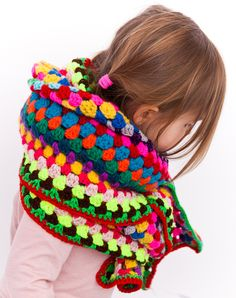 long multicoloured shawl - petitus - Crocheted Scarves