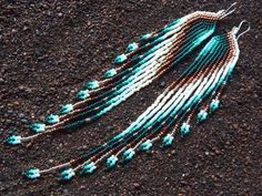 Swan Designs Copper Glow Long 11/0 Seed Bead door MauiSwanDesigns, $148.00 / €110,19.