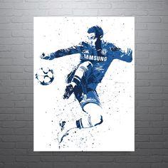 Eden Hazard Chelsea Belgium Footballer Soccer Poster
