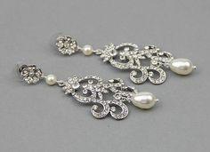 Bridal earrings Bridal chandelier earrings by LavenderByJurgita, $79.00