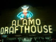No, not that alamo – the Alamo Drafthouse!  This was at the top of our unique movie theaters list, and for good reason, because this place rocks.  They say you come for the films and stay for the beer, but if you want to Keep Austin Weird, then the most weird thing to do in Austin on a Wednesday night is to go to the Alamo's Weird Wednesday.  They show cult classics at midnight, and the host of the show is…unique, to say the least.