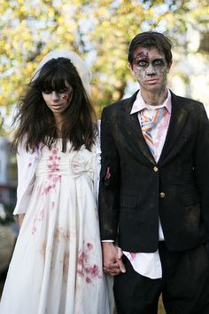 The most amazing DIY zombie couples costume, using all items from #Goodwill | Holly Dolly