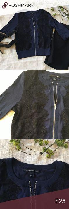 Banana Republic Zip Sweater Banana Republic Zip Sweater.  3/4 length sleeves.  Hits at the waist.  Worn twice. Banana Republic Sweaters Cardigans