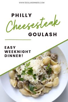 This Philly cheesesteak goulash is a creamy, comforting, and easy dinner idea. It's a quick and easy skillet meal with all the flavors of your favorite Philly Cheesesteak sandwich. Learn how to make the recipe this summer! #beefrecipe #pastarecipe #quickdinner Goulash Recipes, Beef Recipes, Easy Weeknight Dinners, Quick Easy Meals, Easy Delicious Dinner Recipes, Easy Skillet Meals, Best Pasta Recipes, Healthy Dishes, Cheesesteak