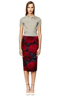 Printed Chine Pencil Skirt by Rochas Now Available on Moda Operandi