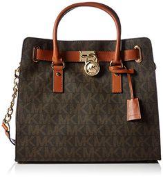 e16d3cbdf805 Women s Shoulder Bags - Michael Kors Large Hamilton Womens Handbag Tote  Shoulder Bag Brown