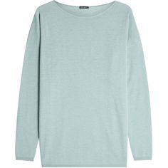 Iris von Arnim Lana Cashmere Pullover ($570) ❤ liked on Polyvore featuring tops, sweaters, green, cashmere sweater, sweater pullover, green sweater, cashmere pullover sweater and pullover sweater