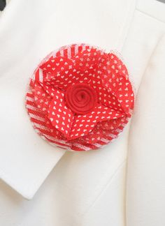 Valentine's Day Heart Fabric Clip by TheLavenderLounge on Etsy, $5.00