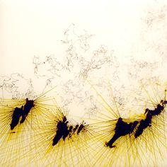 Brooklyn based artist and writer Shane McAdams created this amazing series of abstract Ball Point Pen Paintings.