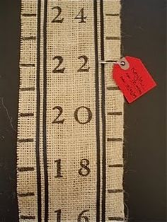 DIY growth chart for family gifts or newborn gifts