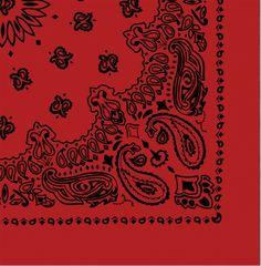 "Red & Black Trainmen Cotton Paisley Sport 27"" x 27"" Bandana Biker Headwrap   4349 RED/BLK   $2.69"