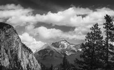 Banfff Alberta Pro Image, Canadian Nature, Mountains, Black And White, Landscape, Silver, Travel, Blanco Y Negro, Viajes