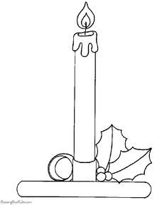 images of candles coloring pages - Google Search