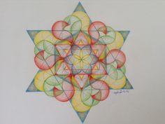 Flower of life fantasy, colored pencil, Ellen Koopmans, december 2014