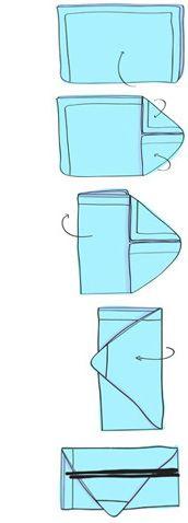 Lautasliina kirjekuori