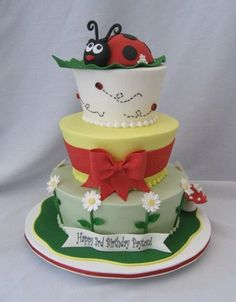 Ladybug By DianeLM on CakeCentral.com  Soooo cute.
