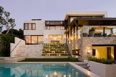 This contemporary private residence located in Manhattan Beach, California, was designed in 2015 by SUBU Design Architecture.