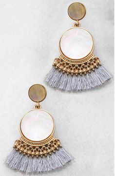 South moon drop earrings