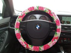 Delta Zeta Lilly Pulitzer Steering Wheel Cover by mammajane. Maybe if i had a BMW..