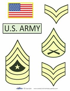 Large Printable Army Star Decoration
