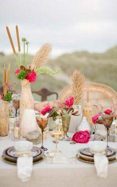 Traumhaft schöne Hochzeitsdeko mit orientalischem Touch | Friedatheres