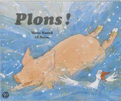 Floortje, het varken, heeft het heel warm. Ze ziet de eenden vrolijk spetteren in het water. En hoewel het niet normaal is voor varkens om het water in te duiken, neemt Floortje een aanloop en... plons!