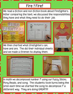 Golden Gang Kindergarten: Fire Safety great for community helpers unit and love the thinking map