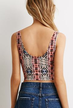 Abstract Print Crop Top | Forever 21 - 2000079949