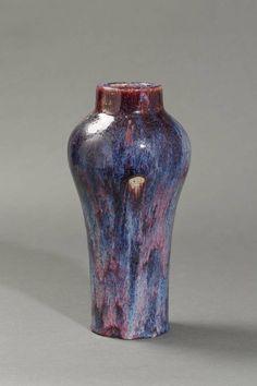 Stoneware vase by Emile Decœur, French