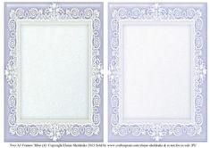 Blue 4 Lace Frames 2 x A5 on Craftsuprint - Add To Basket!